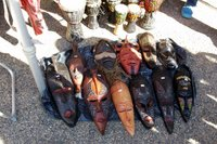 An assortment of African masks